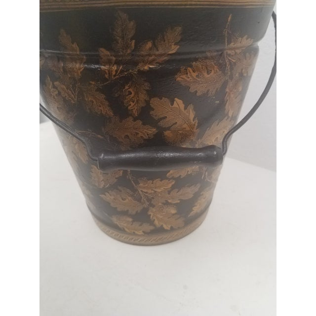 English English Antique Bucket / Pail With Decoupage Leaves - Found in Southern England For Sale - Image 3 of 12