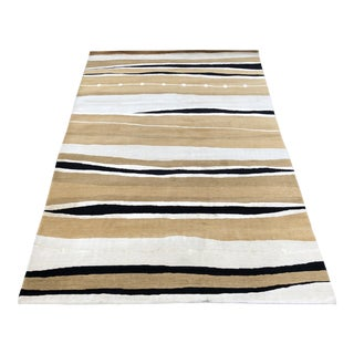 """Contemporary Organic Patterned Rug - 5'11"""" x 9' For Sale"""