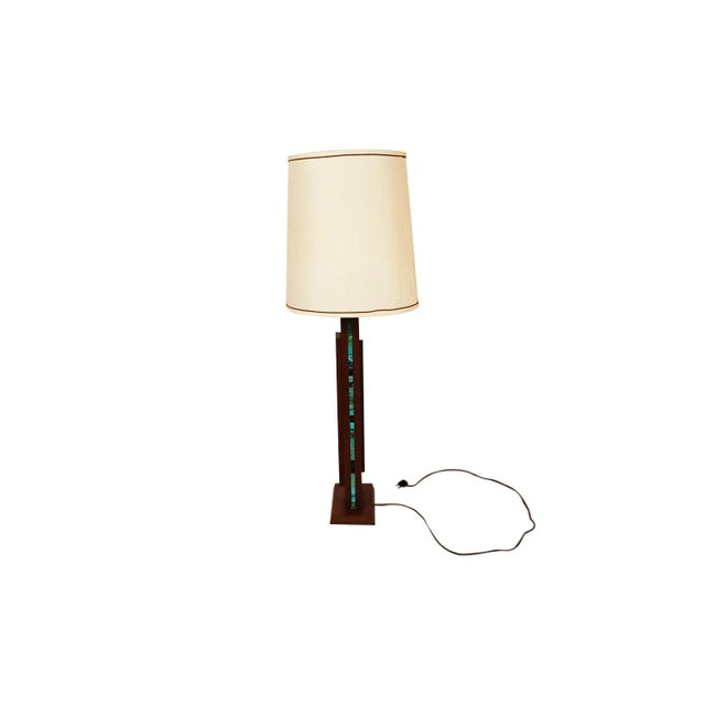 Harris Strong Harris Strong Mid Century Wood Tile Lamp For Sale - Image 4 of 10