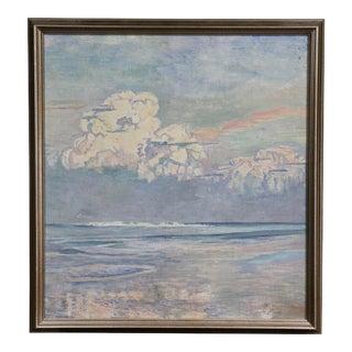 California Seascape Oil Painting on Canvas by Martha Eleanor Nicholson Hurst For Sale