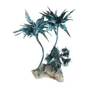 Mid-Century Modern Copper Spiky Plant Sculpture