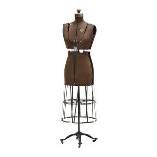 Antique Industrial Collapsible, Adjustable Dress Form For Sale