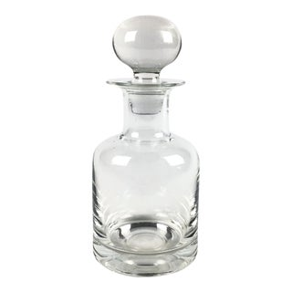 1970s Modern Crystal Whiskey Decanter For Sale