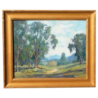 Mary D Coleman Early Ca Artist B.1893 Oil on Canvas Painting For Sale