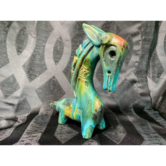 "1950s 1950s Vintage Alvino Bagni ""Sea Garden"" Italian Sea Horse Pottery Sculpture For Sale - Image 5 of 13"
