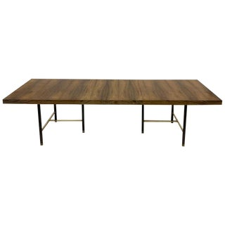 Harvey Probber Sculptural Floating Dining Table in Rosewood, Brass and Mahogany For Sale