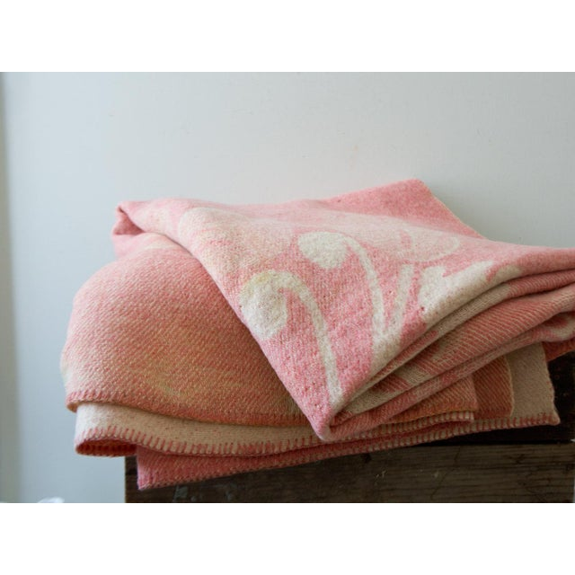 Orr Health Mauve Pink Wool Bohemian Throw Blanket - Image 2 of 5