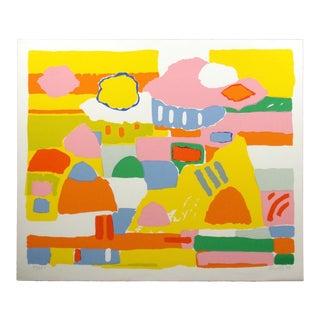 """John Grillo """"Landscape Ii"""" Signed Numbered Serigraph For Sale"""