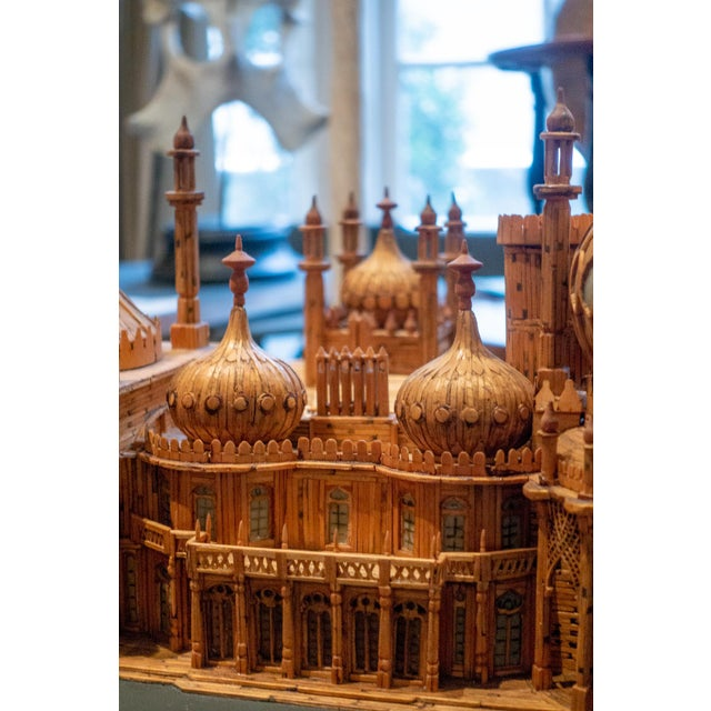 Royal Brighton Pavilion Matchstick Architectural Model by Bernard Martell For Sale - Image 12 of 13