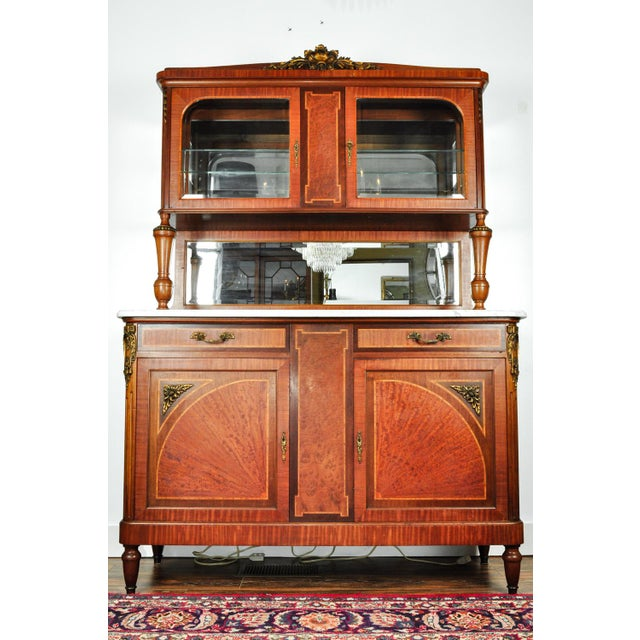 Antique Sandwood Mahogany Hutch or Cabinet For Sale - Image 13 of 13