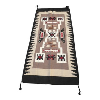 Late 20th Century Southwestern Style Geometric Pattern Wool Blanket / Tapestry For Sale