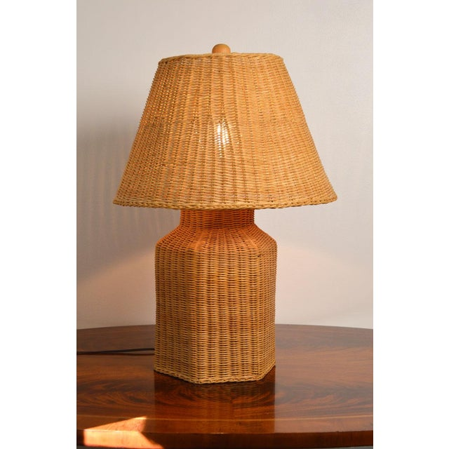 The beautiful, golden diffused light this lamp puts off is as beautiful as the lamp itself. It is a perfectly preserved...
