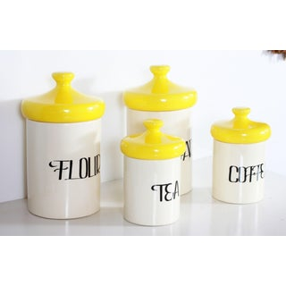 Vintage Mid Century Ceramic Kitchen Canisters - Set of 4 Preview