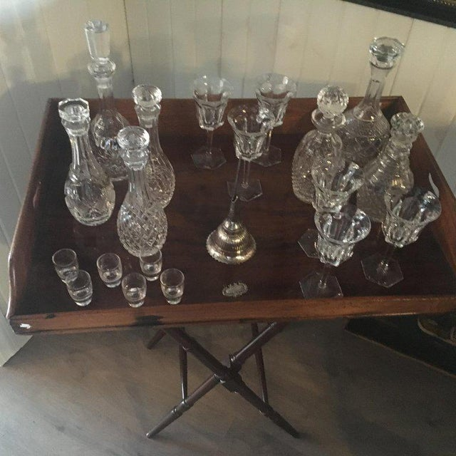 18th Century Geo III Mahogany Butlers Tray on Stand For Sale - Image 5 of 10