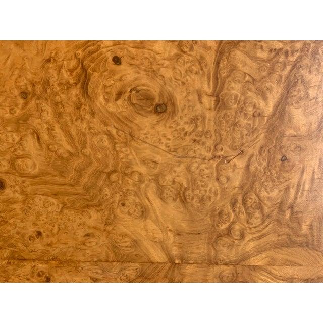 Vintage Mid Century Modern Werner Kanner Burl Wood Table For Sale In Los Angeles - Image 6 of 10