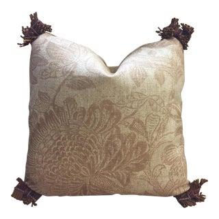 Belgian Linen Hand Printed Pillow