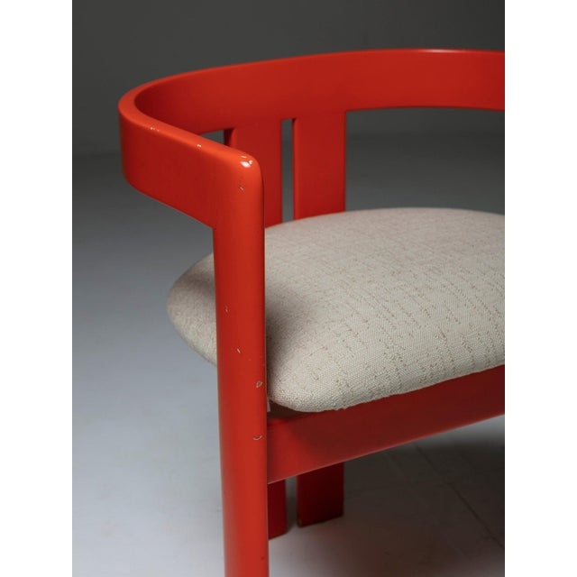 """Mid-Century Modern Set of Two """"Pigreco"""" Chairs by Tobia Scarpa for Gavina For Sale - Image 3 of 7"""