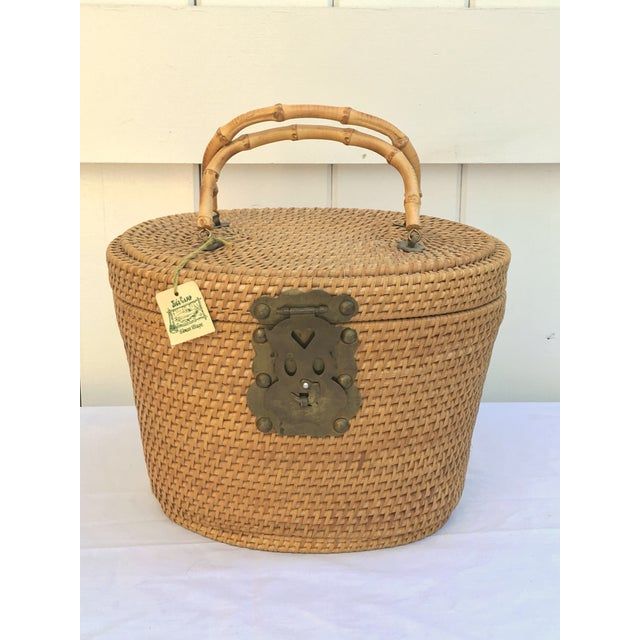 1950s Woven Basket Purse - Image 3 of 8