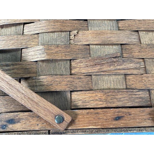 1920s Rustic Wooden Baskets - Stack of 2 For Sale - Image 10 of 11