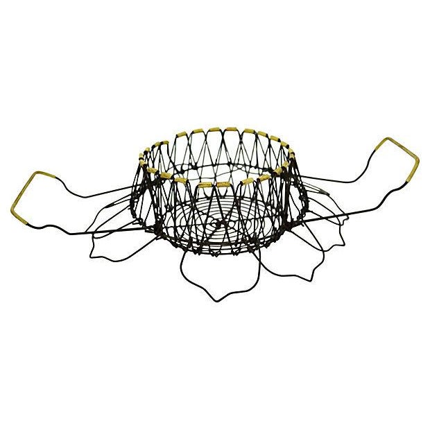 French Wire Egg Convertible Basket For Sale - Image 5 of 5