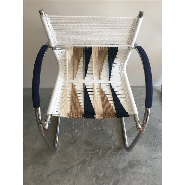 Upcycled Chrome Macrame Chairs - Pair - Image 3 of 6