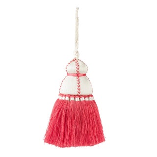 White & Coral Tassel, Small For Sale