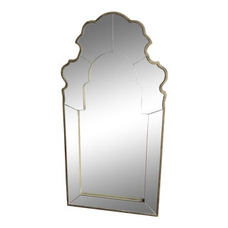 Hollwood Regency Style Antique Gold Frame Mirror For Sale