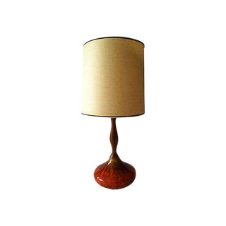 Mid-Century Drip Glaze Desk Lamp For Sale