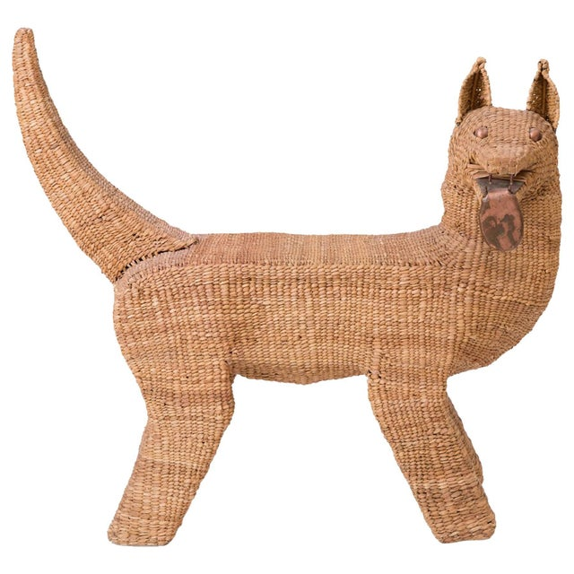 Mario Lopez Torres Woven Reed and Copper Dog For Sale In Phoenix - Image 6 of 6