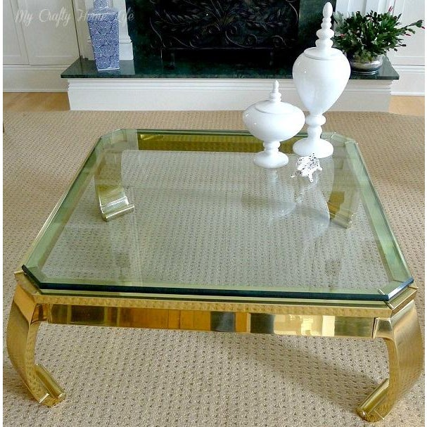 Karl Springer Asian inspired brass coffee table by Mastercraft. This classic beauty is made of solid forged brass. It is...