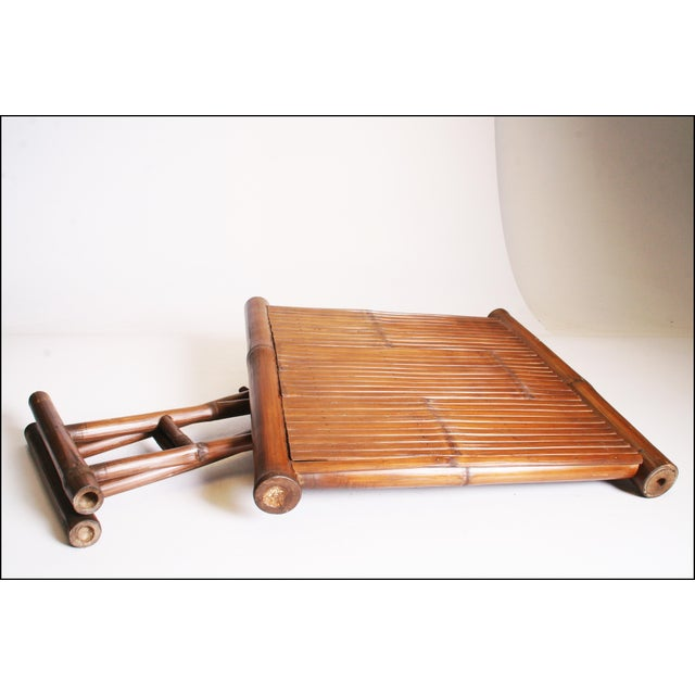 Vintage Brown Bamboo Coffee Table - Image 11 of 11