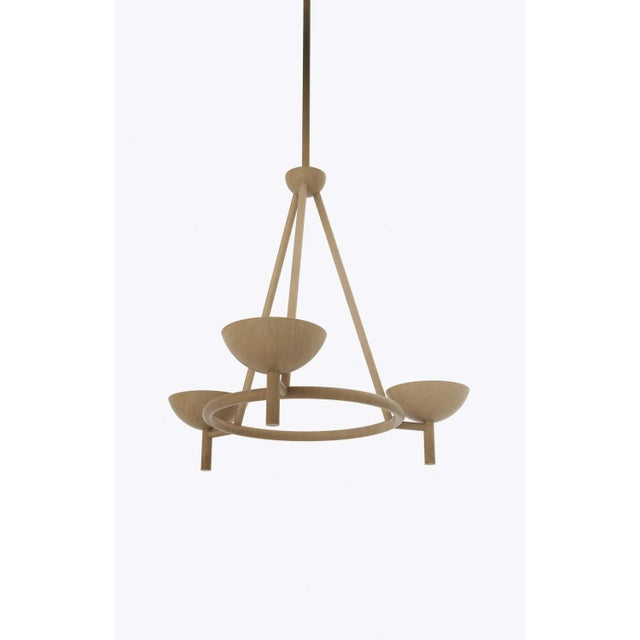 "Orphan Work 200 chandelier BB, 2020 Shown in brushed brass Available in brushed brass and blackened brass Measures: 33""..."