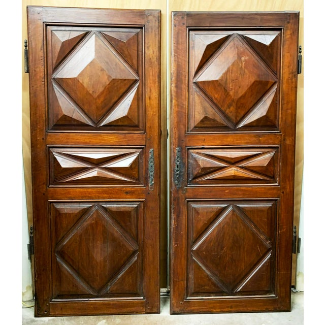 These elegant and refined armoire doors come from France. They once graced a beautiful armoire that was made in the...