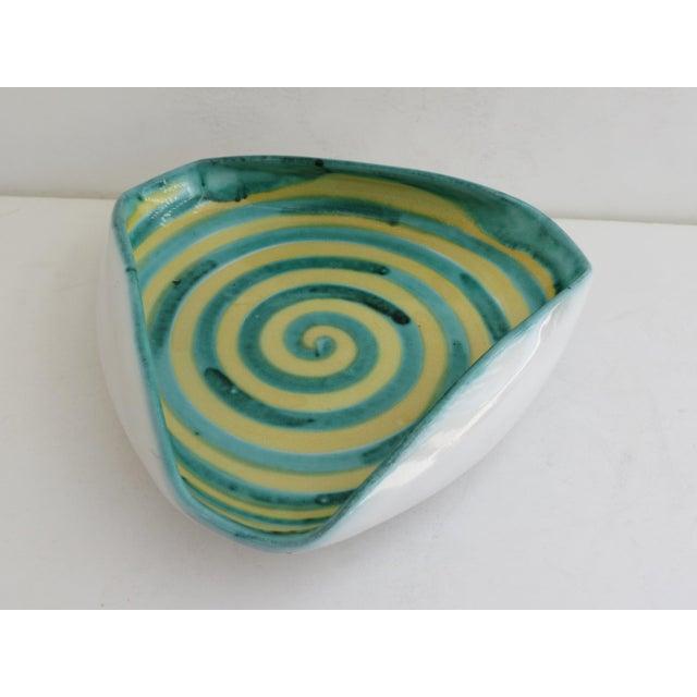 Italian Ceramic Spiral Bowl - Image 3 of 5