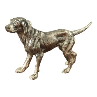 Metal Pointer Hunting Dog Statue For Sale