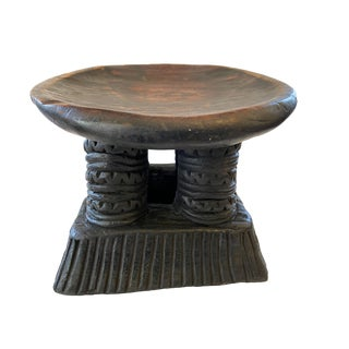 Old Wooden African Stool Bamun Cameroon For Sale