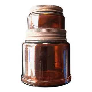 Industrial Patinated Amber Glass Kodak Bottle
