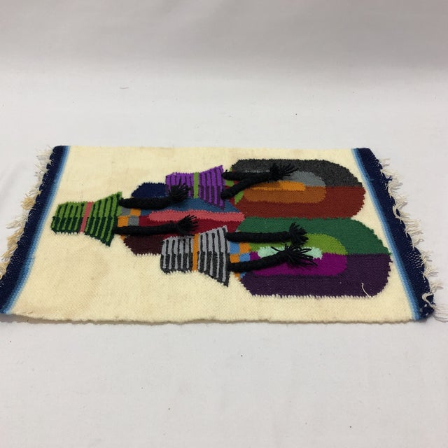 Vintage South American Handwoven Wall Hanging For Sale - Image 4 of 5