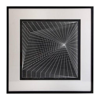 "1969 ""Lineate II"" Newly Framed Silkscreen by Roy Ahlgren For Sale"