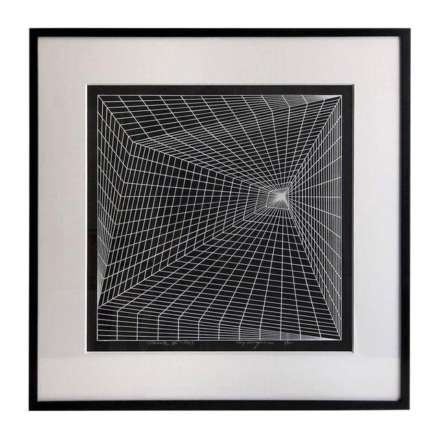 "1969 ""Lineate II"" Newly Framed Silkscreen by Roy Ahlgren For Sale"