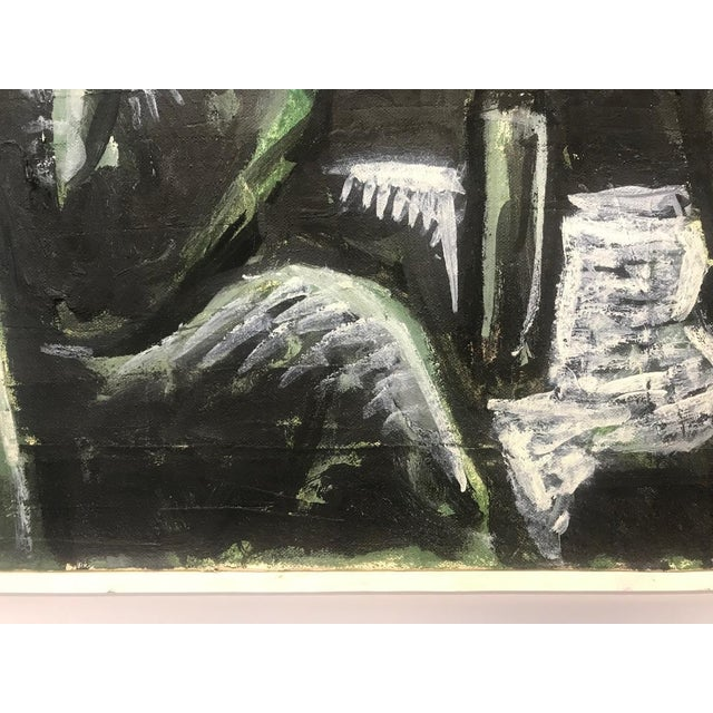 Late 20th Century 1990s Arie Eckstein Contemporary Oil Painting For Sale - Image 5 of 10
