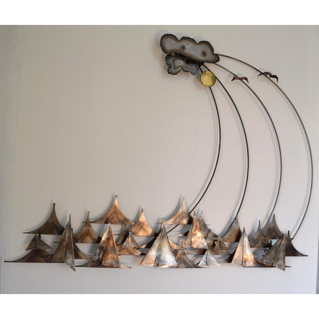 1980s A.j. Stillman Mixed Metals Hanging Wall Sculpture For Sale - Image 5 of 6