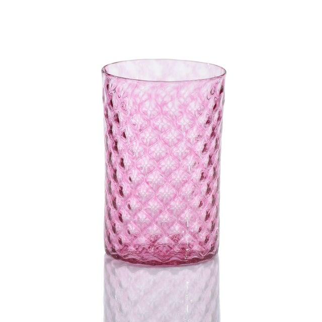 Modern Mandala Drinking Glasses, Pinks and Orange - Set of 6 For Sale - Image 3 of 5