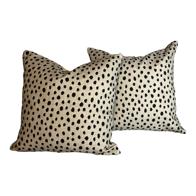 Kate Spade Kravet Fauna Down Filled Pillows - A Pair For Sale