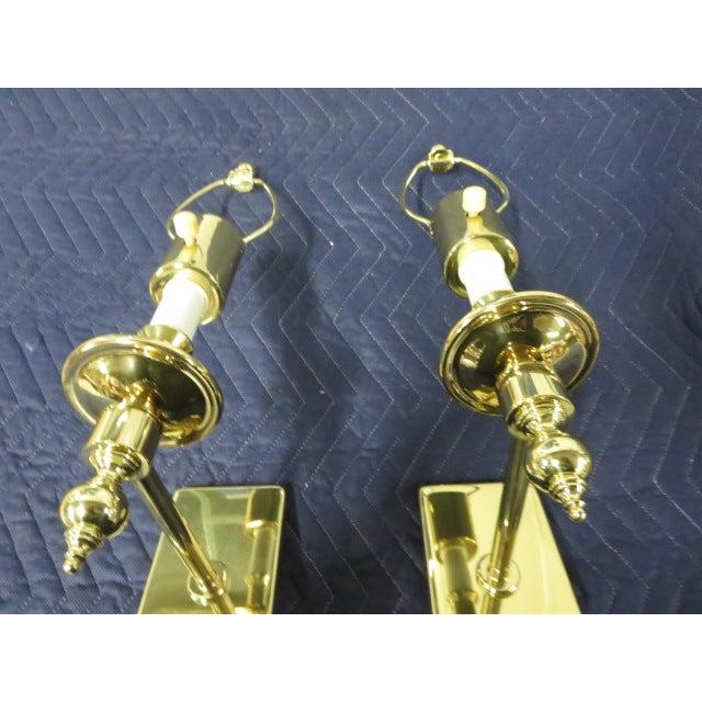 Brass Single Arm Hinson Sconces - 2 - Image 4 of 6