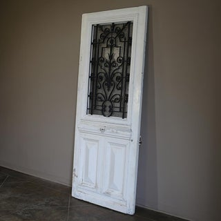 19th Century Exterior Door With Wrought Iron Preview