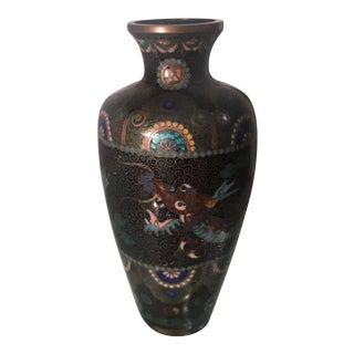 Unusual Antique Japanese 4 Claw Dragon Cloisonné Vase