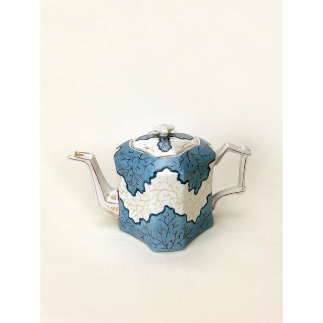 Mid 20th Century Rs Prussia Blue & White Angle Teapot For Sale - Image 5 of 7