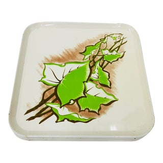 Vintage Set Metal Serving Trays For Sale