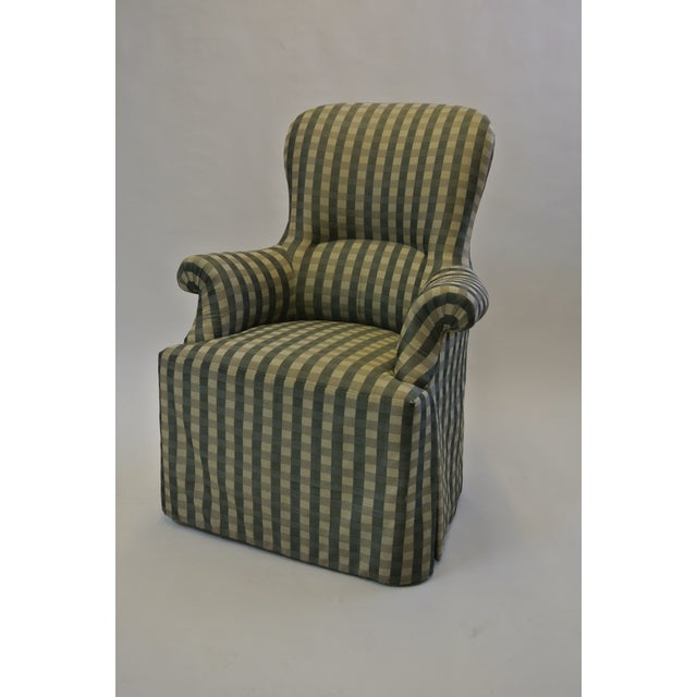 Skirted Gingham Armchair - Image 6 of 6